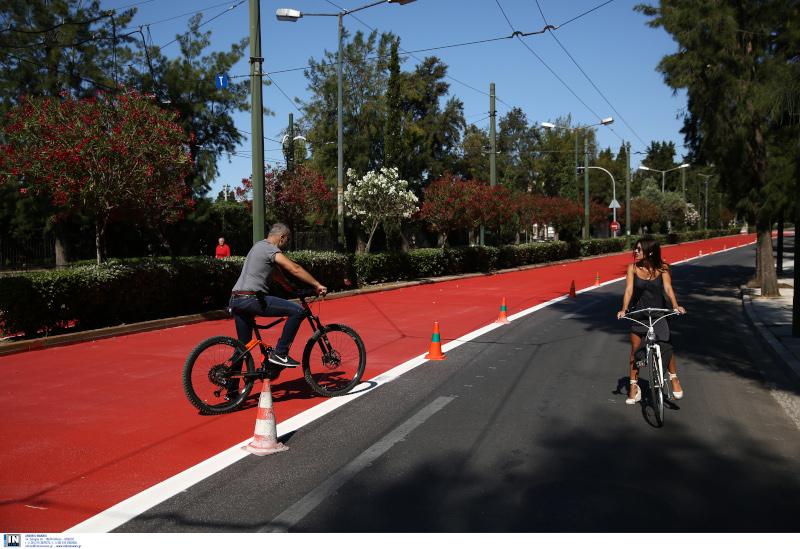 Μεγάλος Περίπατος της Αθήνας ποδηλάτες
