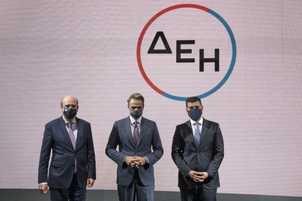 Από αριστερά: Κ. Χατζηδάκης, Κυρ. Μητσοτάκης και Γ. Στάσσης