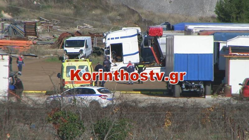 Τραγωδία στον Ισθμό Κορίνθου: Νεκρός 35χρονος οδηγός φορτηγού από ηλεκτροπληξία
