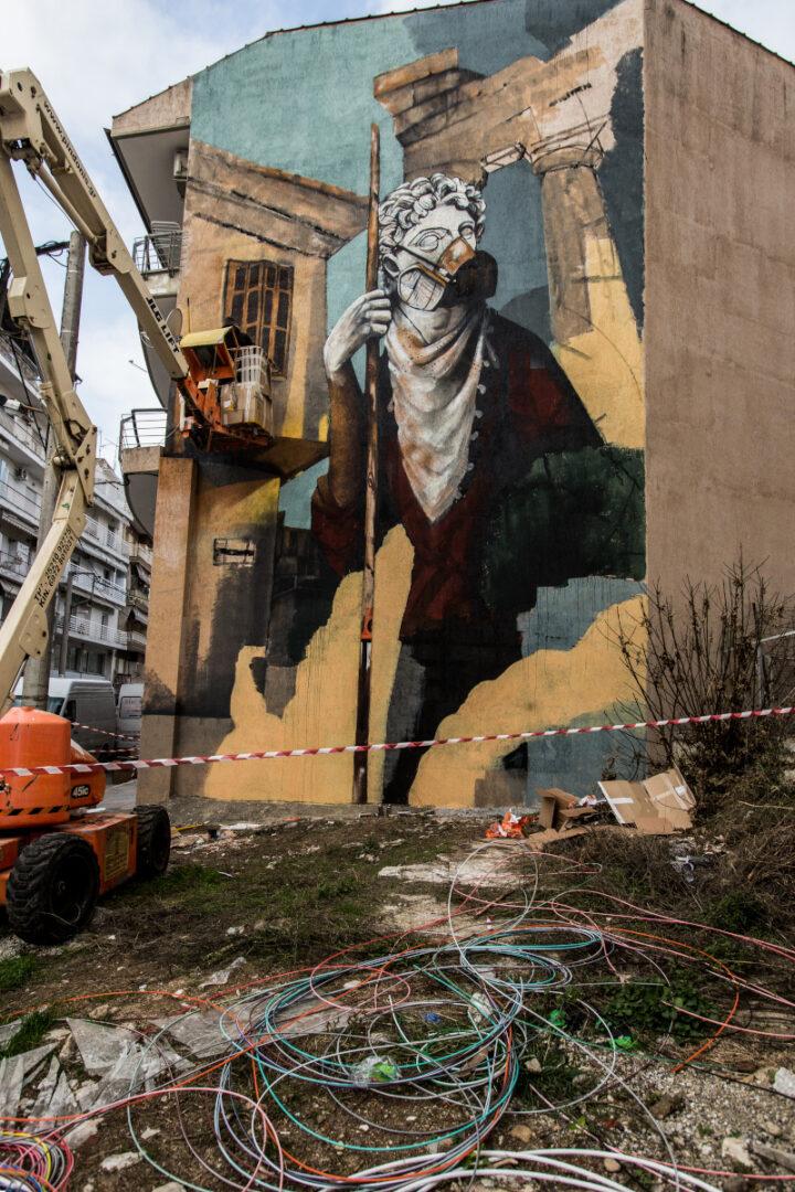 Το γκράφιτι του Λευτέρη Τουλή