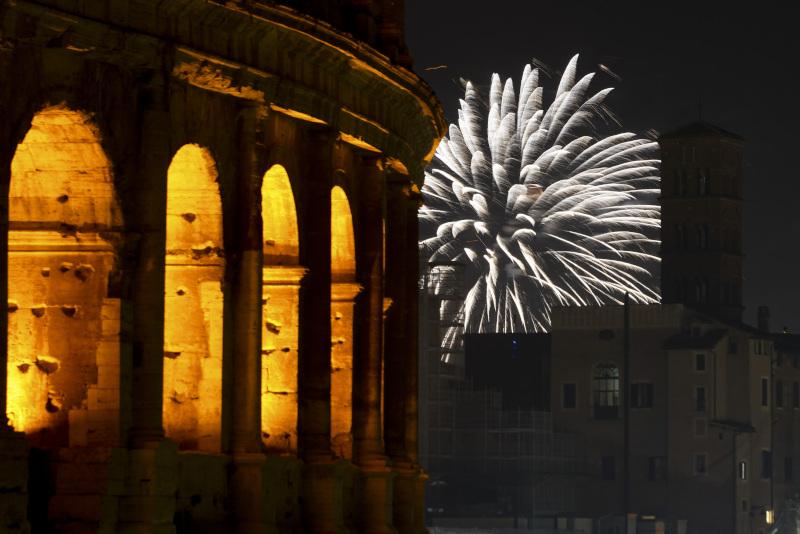 Πυροτεχνήματα Ιταλία Κολοσσαίο