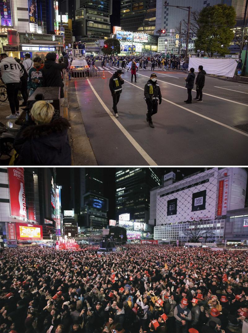 Υπό το φόβο κήρυξης νέας κατάστασης έκτακτης ανάγκης, οι κάτοικοι του Τόκυο προτίμησαν να γιορτάσουν την Πρωτοχρονιά από τα σπίτια τους