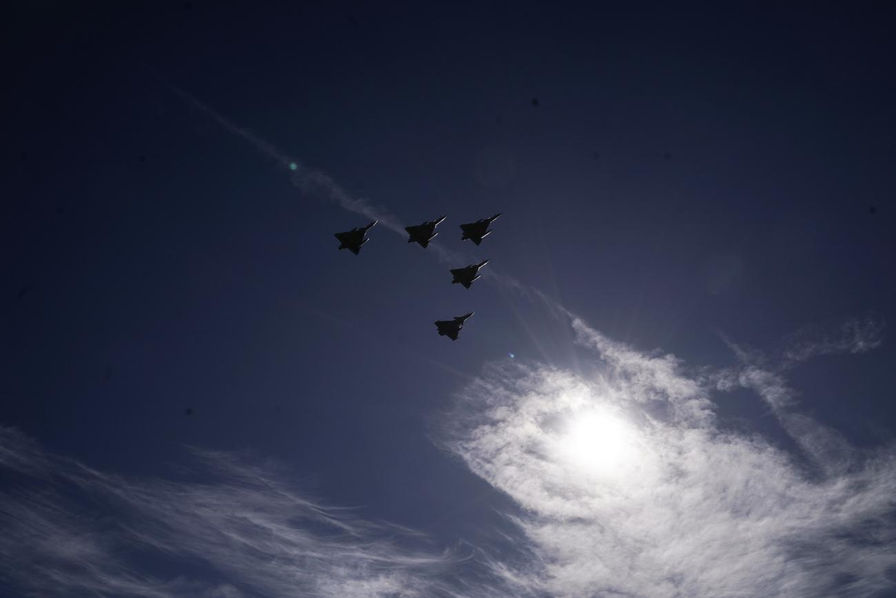 Πολεμικά αεροσκάφη σε πτήση