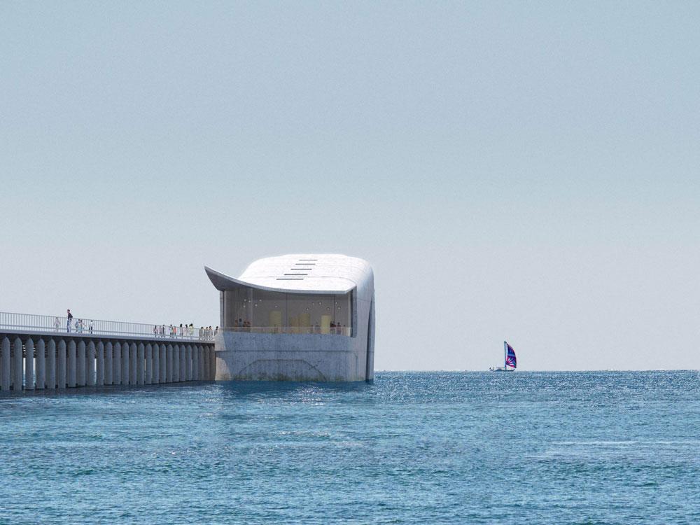 Το παρατηρητήριο βρίσκεται δύο χιλιόμετρα από την ακτή