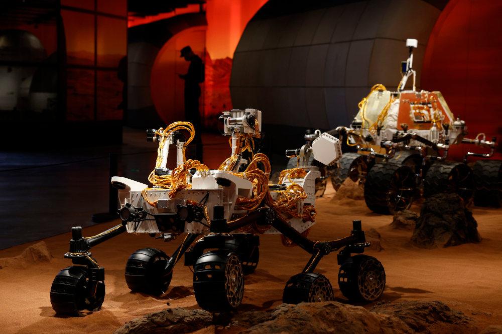 Το ρόβερ της κινεζικής αποστολής στον Άρη που θα προσπαθήσει να προσεδαφιστεί και να εξερευνήσει τον πλανήτη